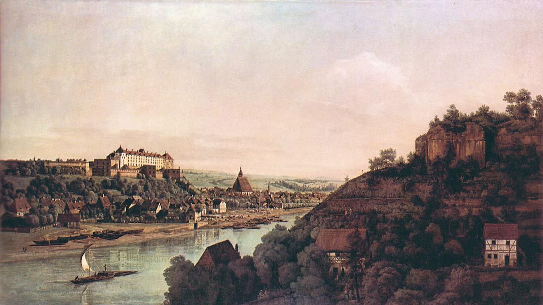 View of Pirna [1] - Canaletto